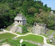 Palenque Maya stad Mexico.