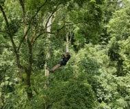 Maak een canopy tour en tokkel van boomtop naar boomtop.