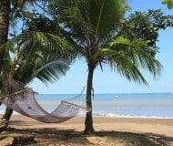 Ontspannen aan het strand van Drake Bay, Costa Rica.