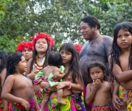 Embera indianen Panama.