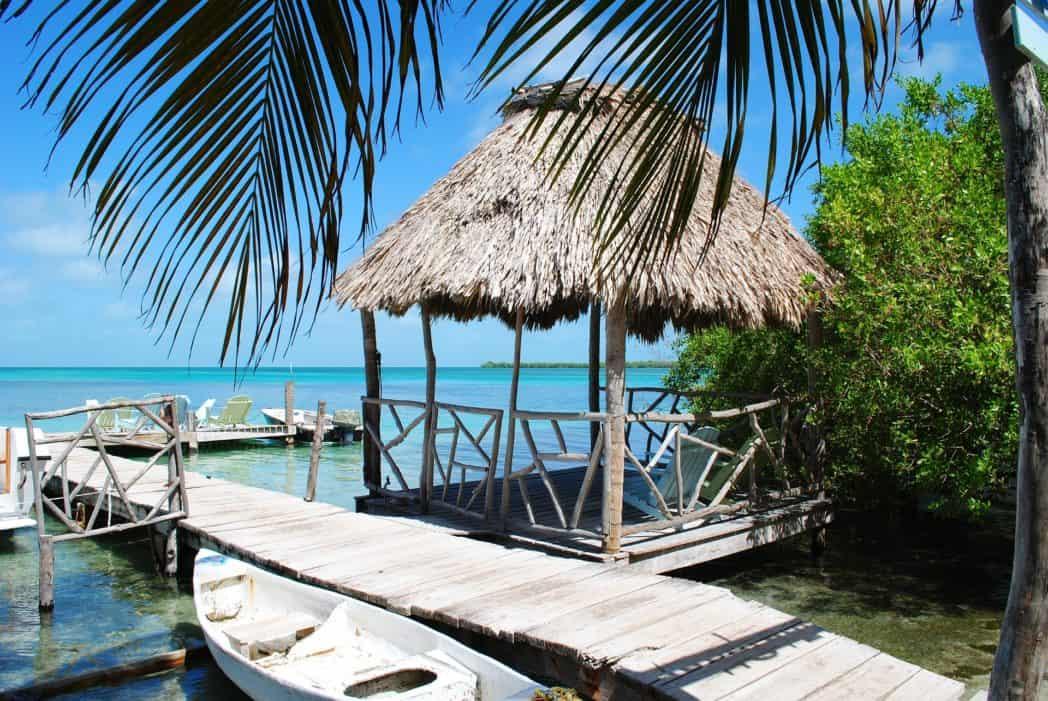 tropisch strand in belize