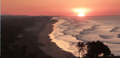 zonsondergang playa el cuco