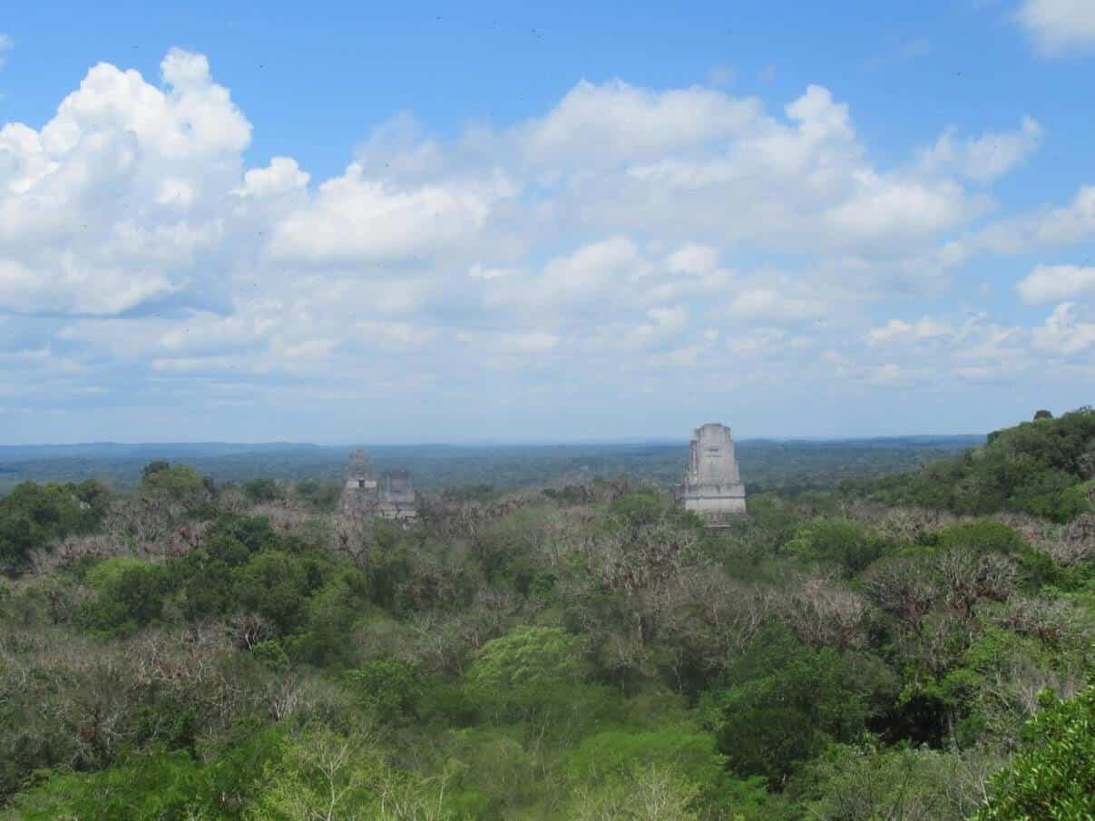 reisverslag guatemala tikal uitzicht