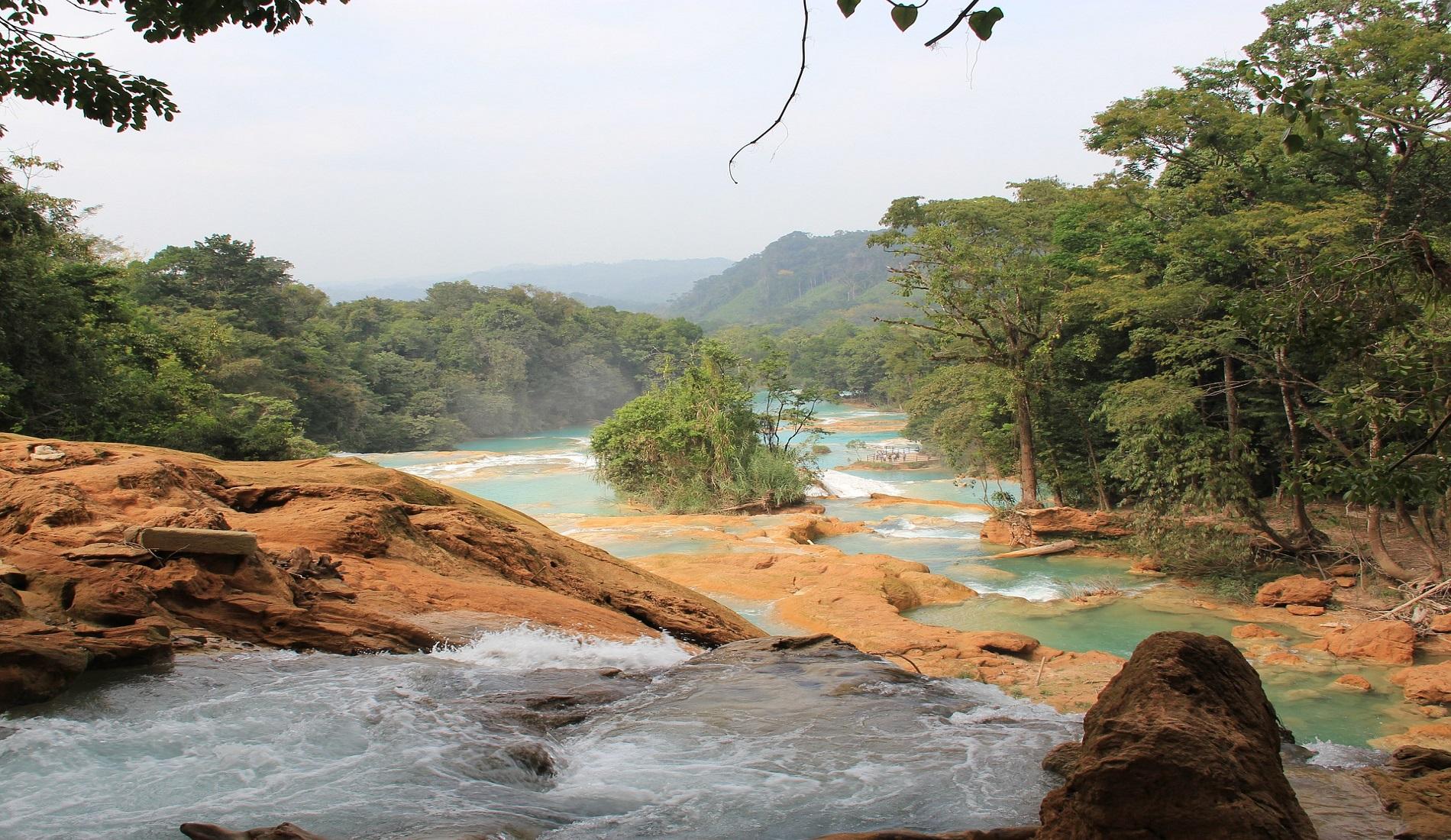Cataratas de Agua Azul rondreis mexico guatemala belize