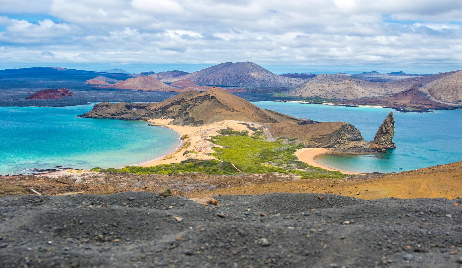 Galapagos eilanden Bartolome & Pinnacle Rock