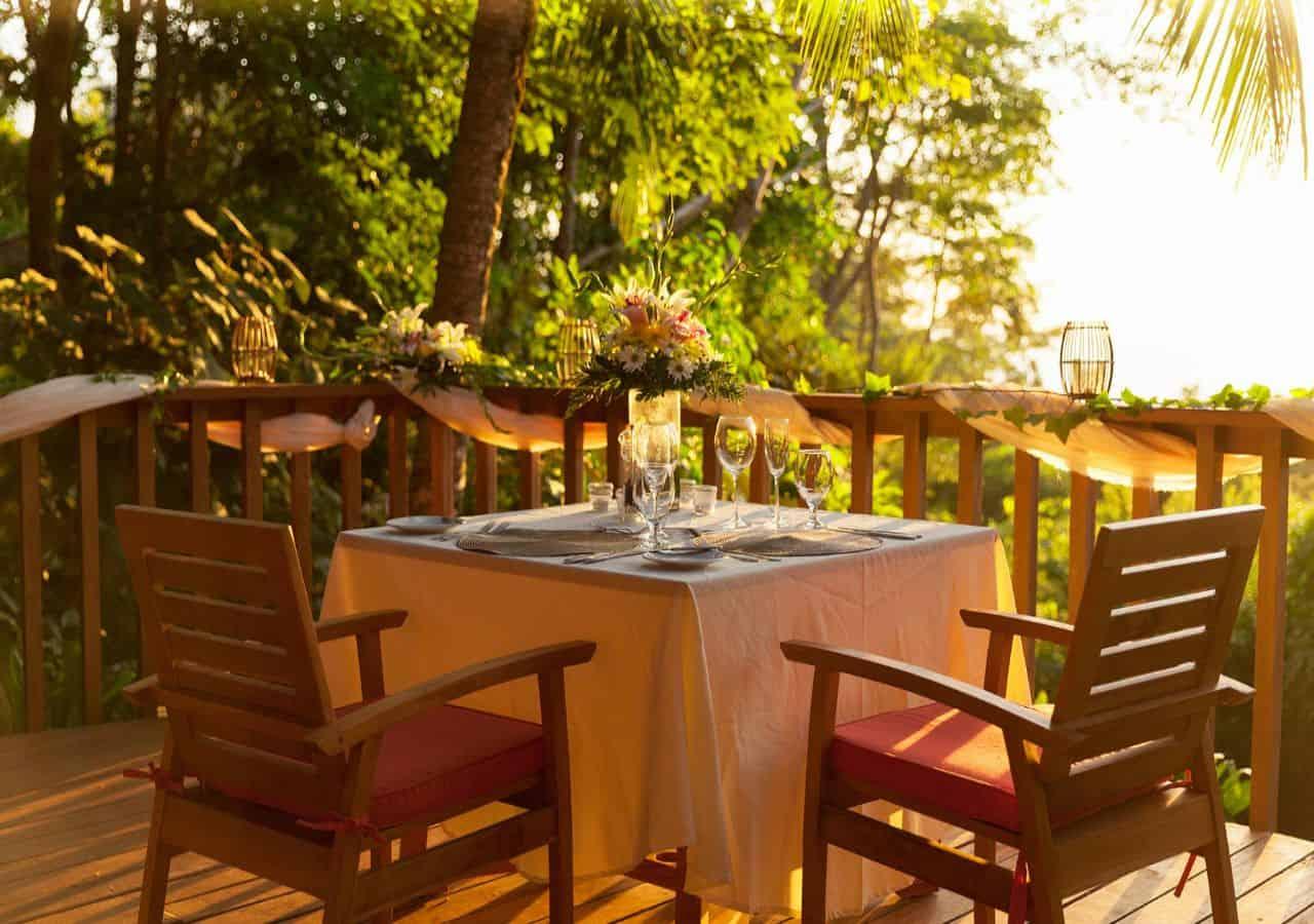 Luxe reis Costa Rica restaurant