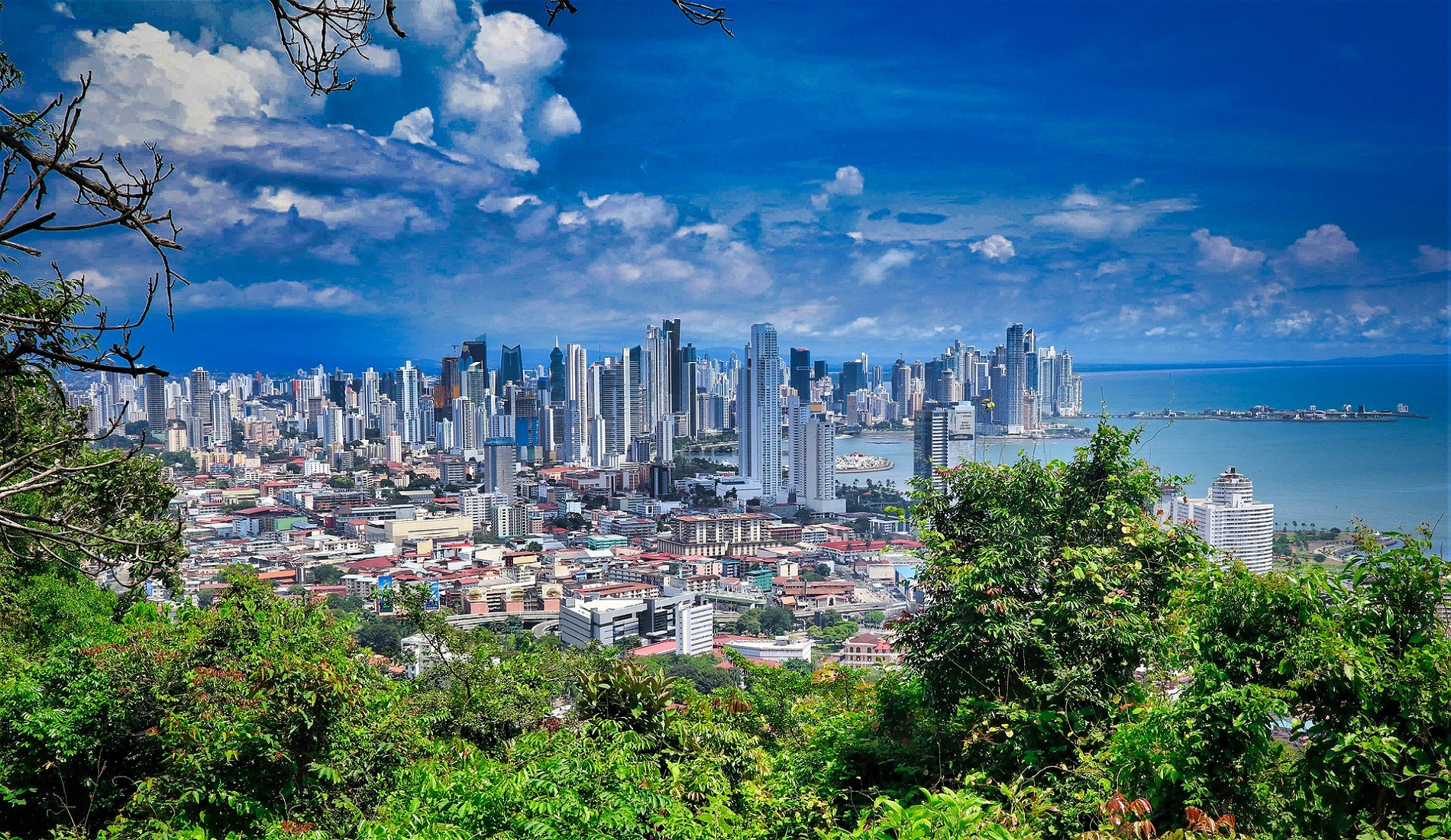 Panama-Stad uitzicht