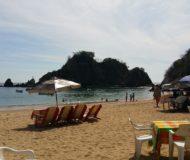 Puerto Escondido strand en terras
