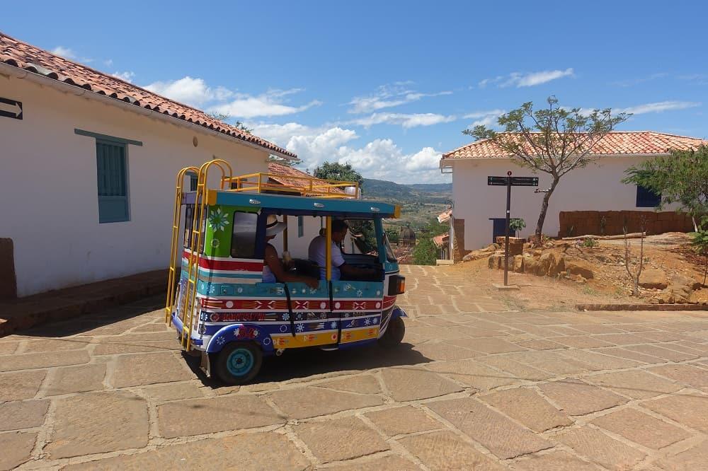 Reisverslag Colombia Barichara tuk tuk