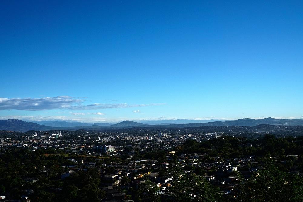San Salvador uitzicht
