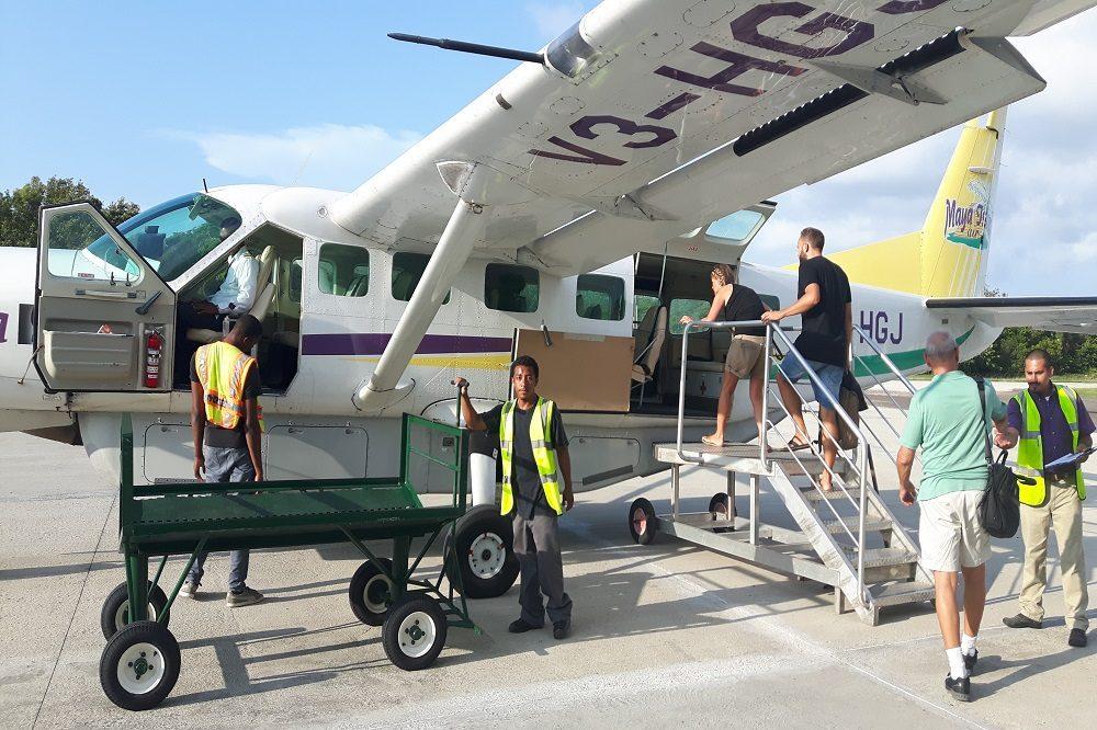 Binnenlandse vlucht vliegtuig Belize