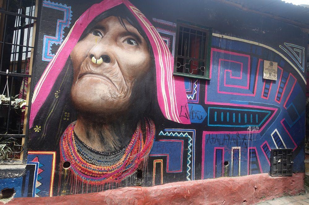 Bogota graffiti muur