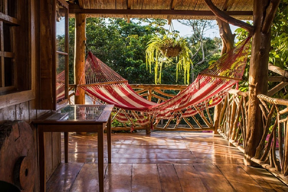 Hangmat bij Sombra ecolodge