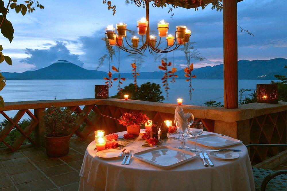 Hotel Lake Atitlan dinner