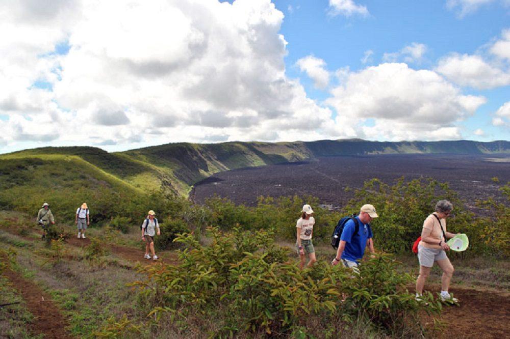 Isabela Sierra Negra Volcano hike eilandhoppen galapagos eilanden