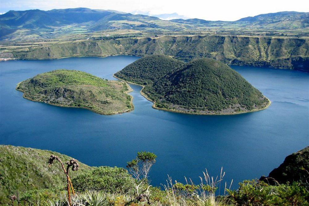 Luxe reis Ecuador Cuicocha Lake