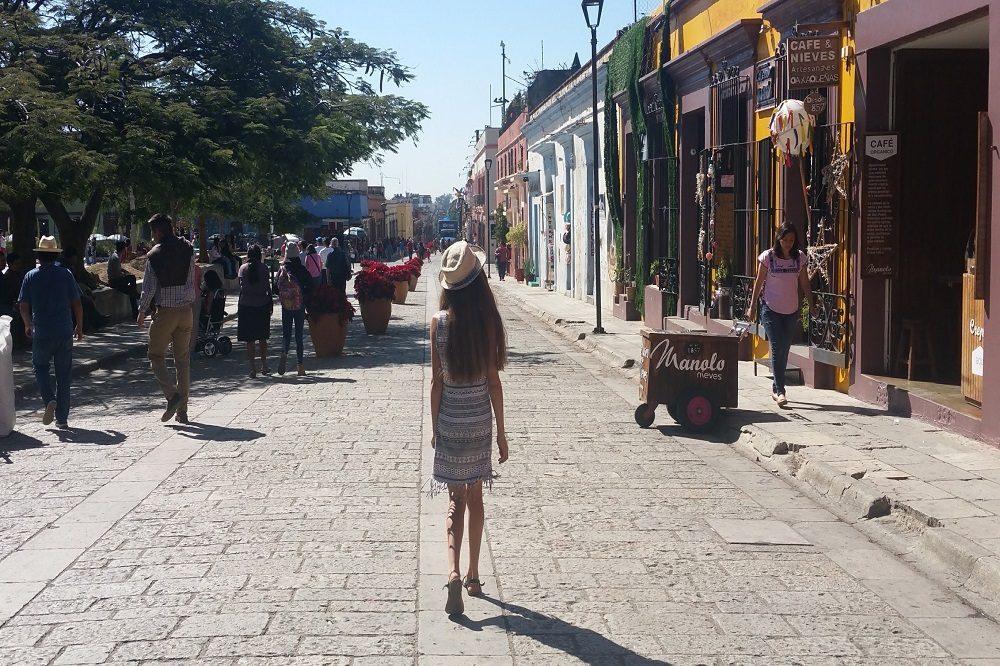 Oaxaca de Juarez koloniale straat