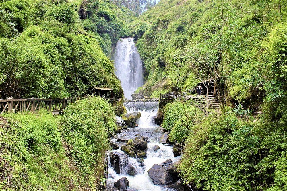 Peguche waterval rondreis ecuador