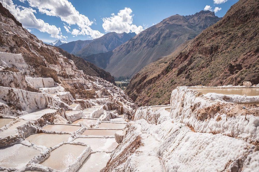 Salinas de Maras heilige vallei Peru