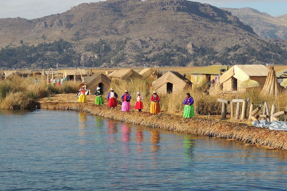 Titicacameer Uros eilanden Peru