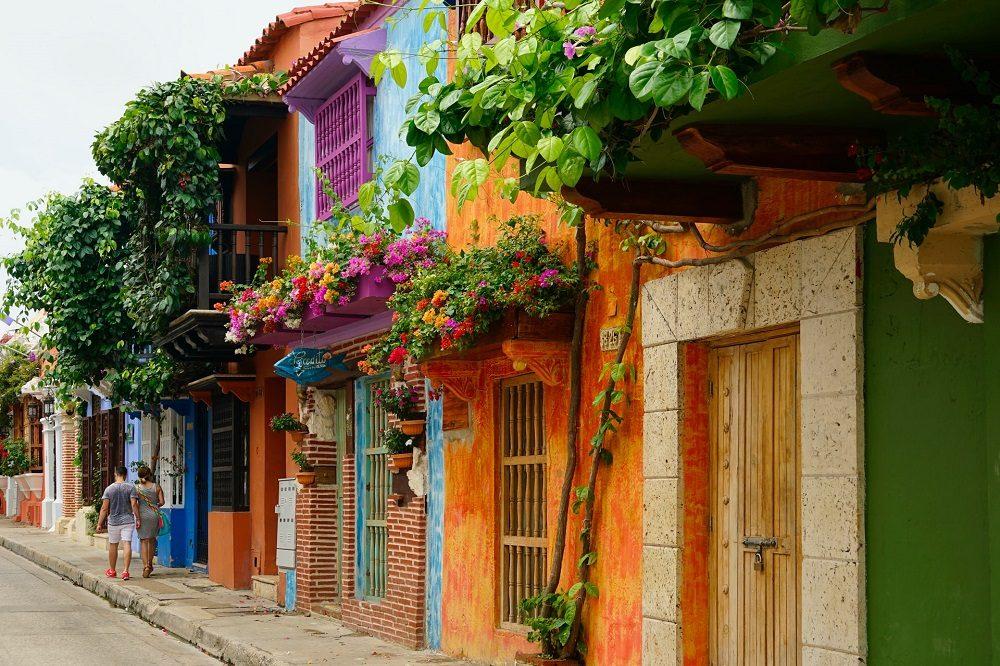 cartagena kleurrijke stad