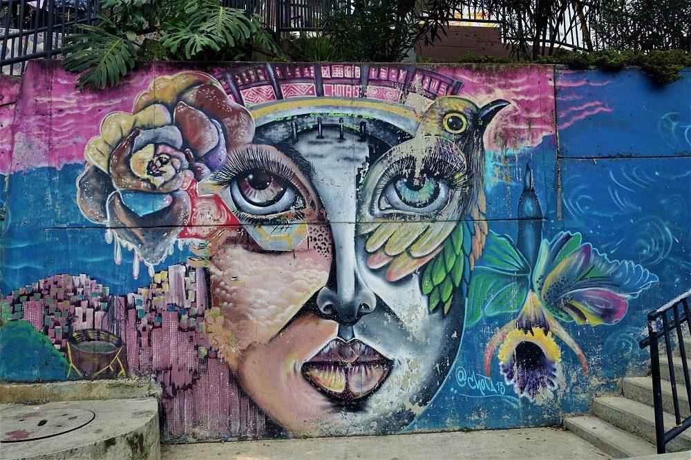 comuna 13 muurschildering