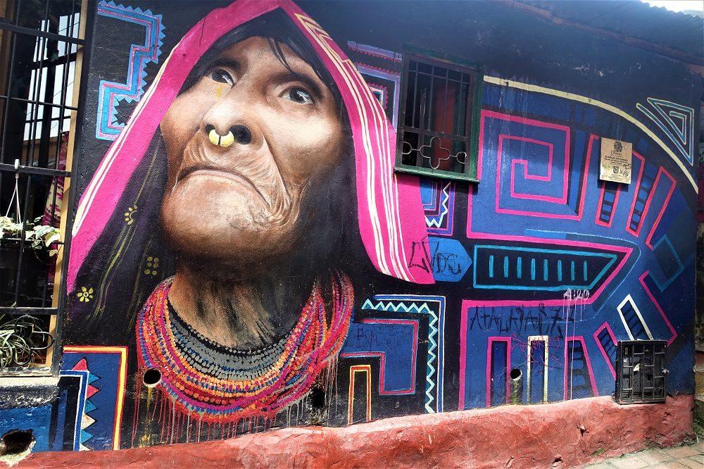 rondreis colombia bogota graffiti
