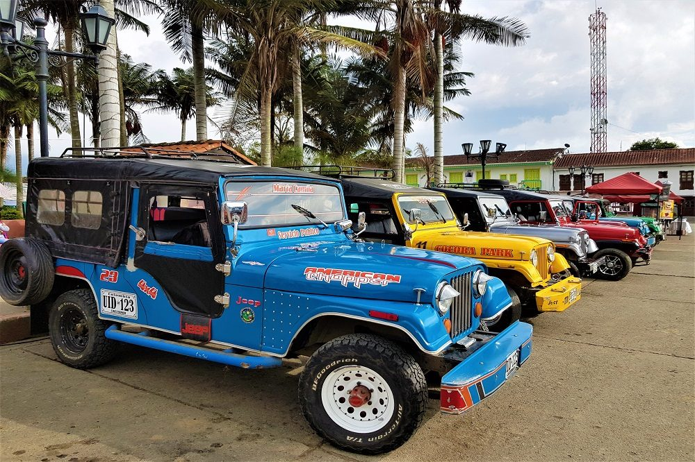 rondreis colombia jeeps salento