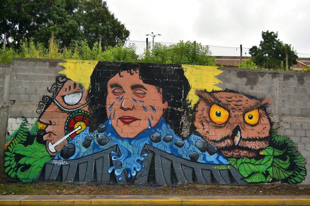 rondreis honduras streetart tegucigalpa