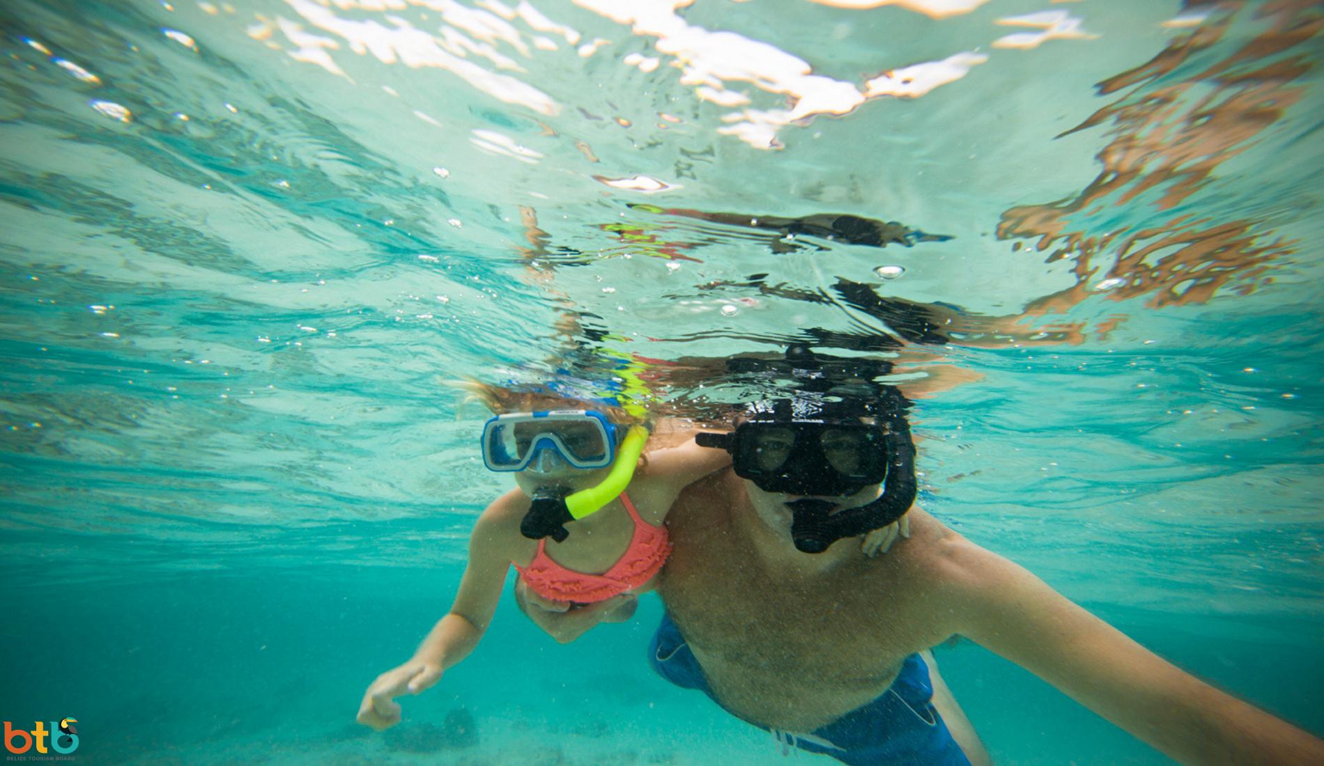 familiereis belize snorkelen
