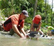 Goud zoeken, familiereis Costa Rica