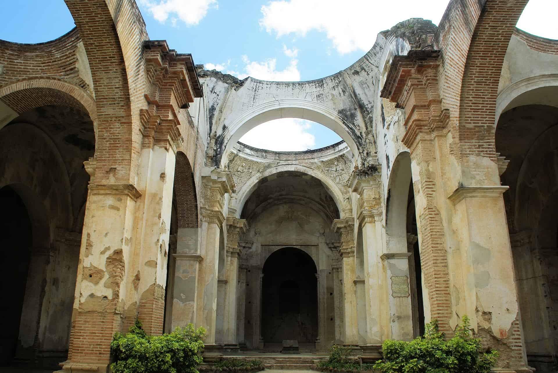 guatemala reizen antigua ruine