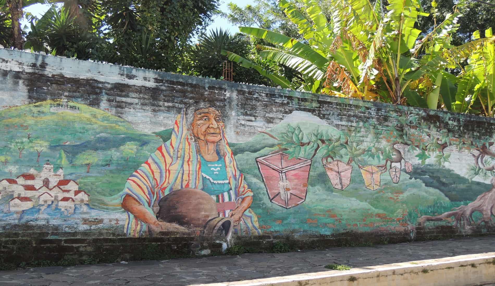 muurschildering El Salvador