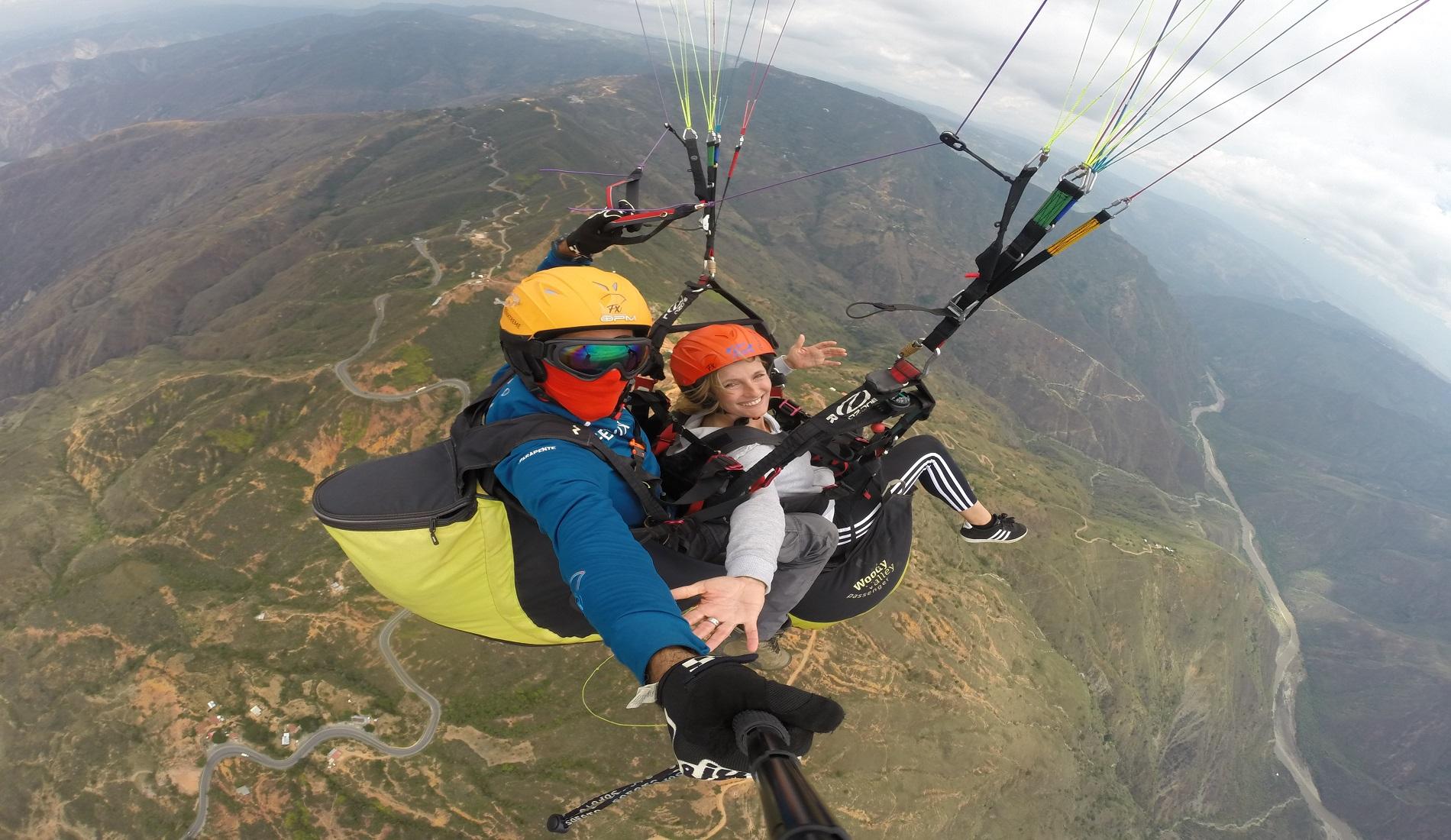 paragliden colombia hoogtepunten