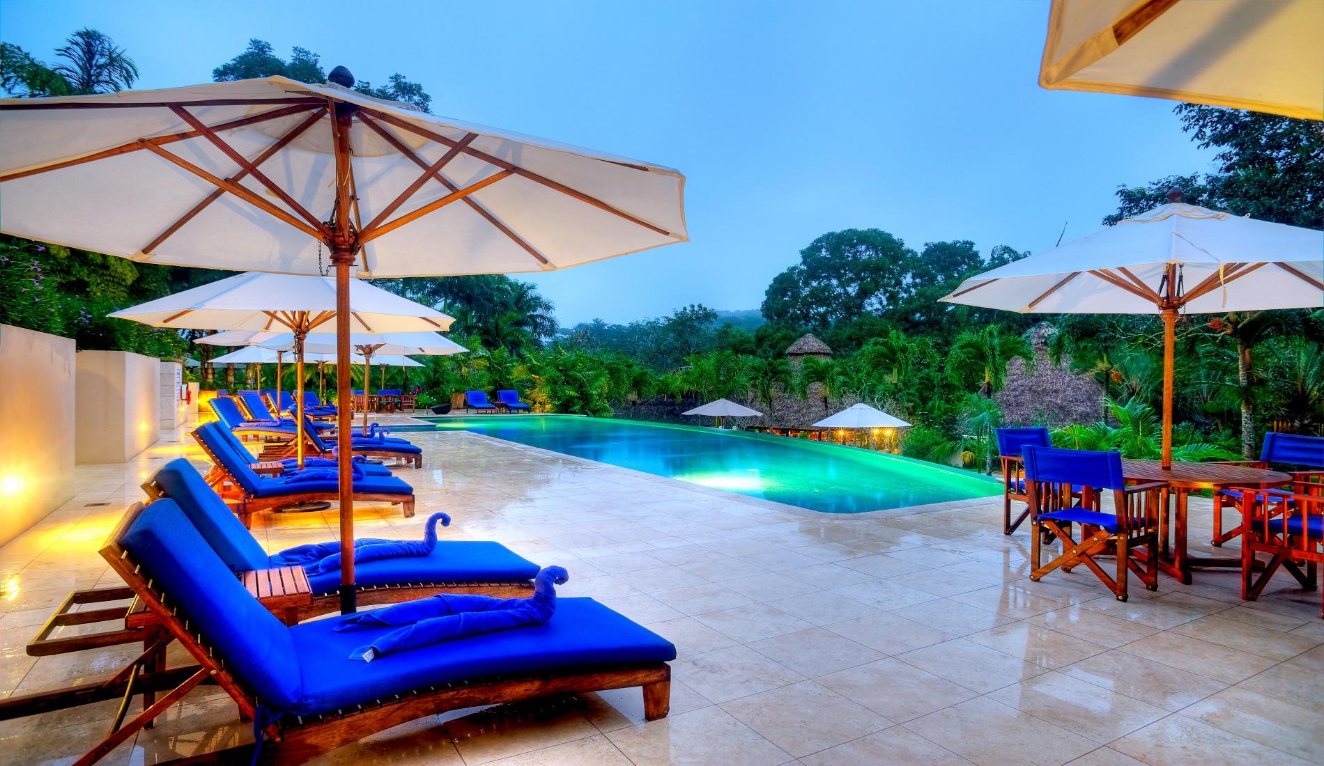 pool chaa creek jungle huwelijksreis belize