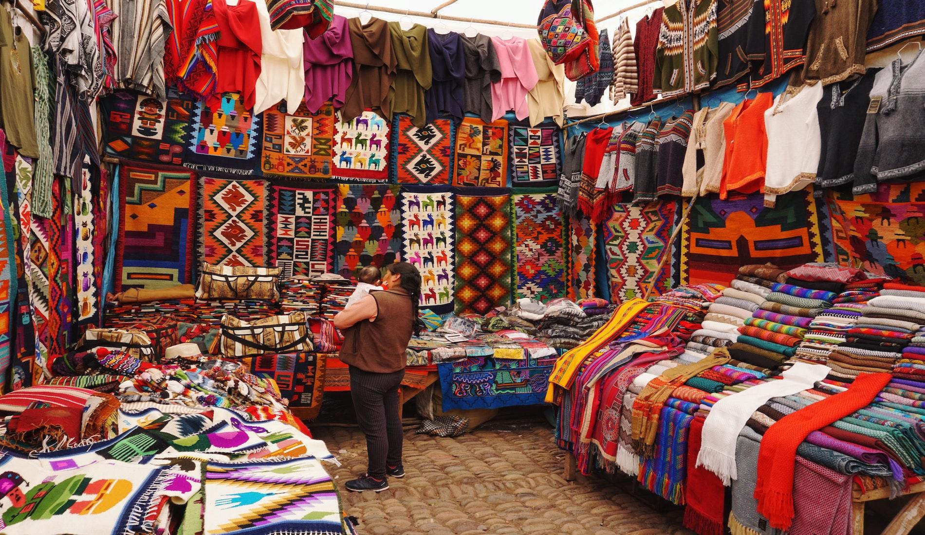 rondreis peru Cusco markt