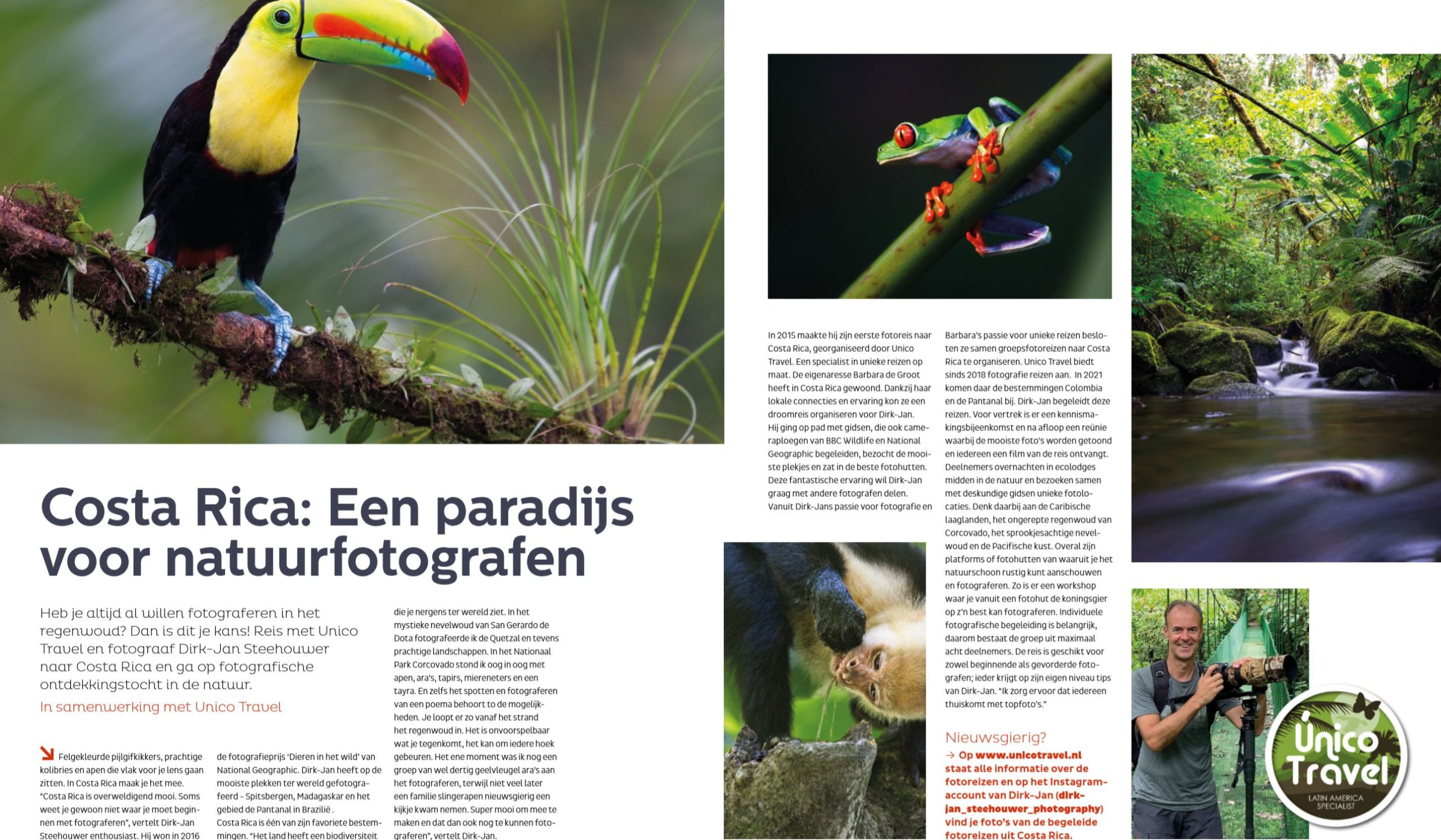 zoom artikel in de media unico travel